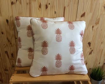 Brass pineapple pillow cover