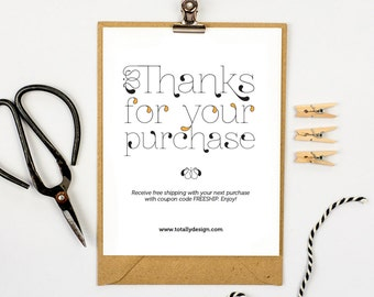 Thank You For Your Order Card Urgup Kapook Co