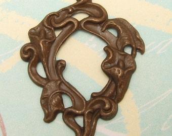 Calla Lily Stamping Vintage Patina Trinity Brass 2 Pc. VP16