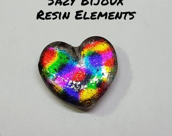 Resin HEART with multicolor