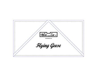 """Bloc Loc - Flying Geese Ruler  3"""" x 6"""" - Quilting Tool"""