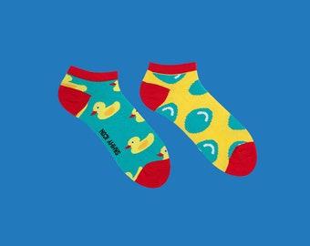 Furphy courte chaussettes, chaussettes de canard en caoutchouc, drôle de chaussettes, chaussettes de l'été pour les hommes et les femmes