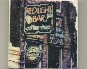 Red Light Bar in Amsterdam - Original Coaster