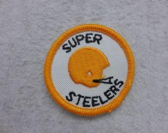 NFL Throwback Super Steelers Pittsburgh Steelers  Football Helmet Sew On Patch