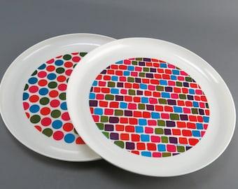 Deka Plastics Trays - TWO, mod 1969 designs
