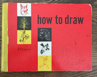 RARE 1940s Pitman How to Draw Book