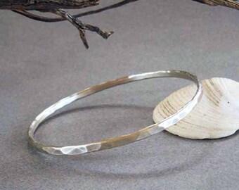 On Sale : Sterling Silver Bangle Bracelet Handmade Modern Jewelry Stack Bracelet Minimalist Jewelry Sale
