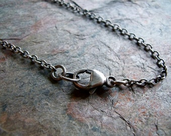 Sterling Silver Chain with Sterling Silver Lobster Claw Clasp