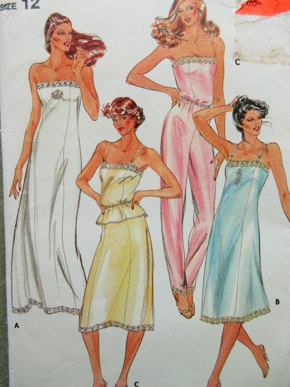 Vintage butterick 3434 sewing pattern camisole slip pattern zoom jeuxipadfo Choice Image