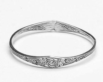 "Spoon Bangle Bracelet: ""Princess"" by Silver Spoon Jewelry"