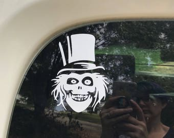 Hatbox Ghost Disney Haunted Mansion Inspired Car, Laptop, or Decor Decal