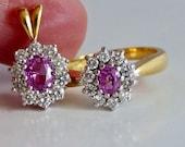 18kt gold pink sapphire a...