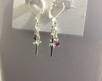 Cross and Star of David earrings