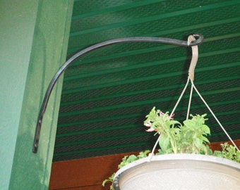 Hand forged plant hangers (set of 2)