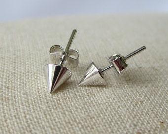 Spike Stud Earrings 5mm - Silver