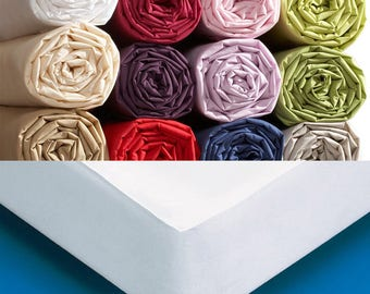 Fitted sheet TWIN SIZE hoeslakens or pad for bed 80 X 200 cm or 90 X 200 cm Cap 35 cm hoeslakens fitted sheet
