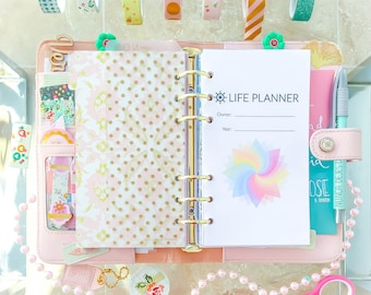 "Personal Planner Inserts LIFE PLANNER Filofax. 3.7""x6.7"" Undated 36 printable PDFs. Made to Fit Louis Vuitton Agenda. Instant Download"