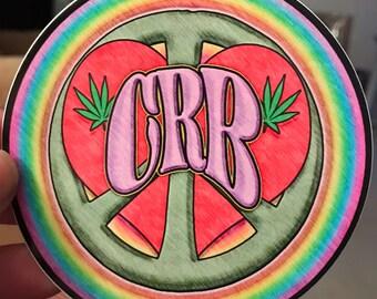 Peace, Love & CRB Sticker CR Brotherhood inspired art decal