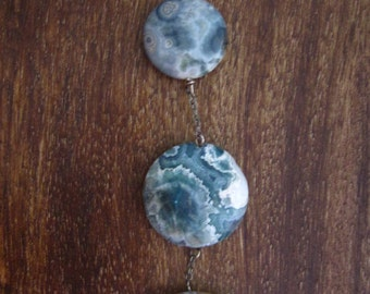 Ocean Jasper Tiered Sterling Silver Necklace (B20)