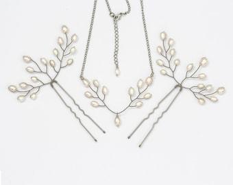 411 Pearl wedding jewelry, Bridal pearls jewelry, Bridal silver accessories, Bridal pearls, Pearl bridal set, Wedding, Pearl bridal, Pearls.