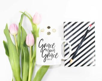 Grace Upon Grace Coffee Mug - Inspirational Coffee Mug