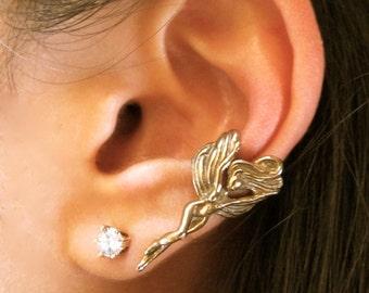 Fairy Ear Cuff Bronze - Fairy Jewelry Fairy Earring - Bronze Ear Cuff Non Pierced Earring Non Pierced Ear Cuff Bronze Ear Cuff Elf Ear Cuff