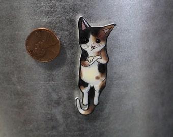 Calico cat magnet for car locker or fridge: great gift for Grumpy cat lovers Calico cat loss memorial