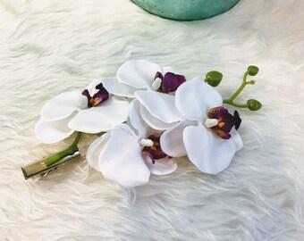 Orchid Hair Clip, Flower Hair Clip Women Accessories Wedding