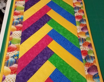 Easter Egg Quilted Table Runner