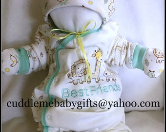 Baby Shower Baby Shower Baby Shower Gift Cuddle Me Babies are babies that are made of all baby items Baby Shower decor Neutral Gender Shower
