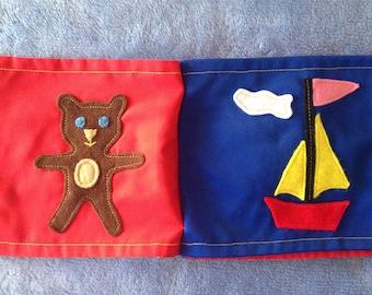 Baby book; cloth book; tactile book; children's book; soft book