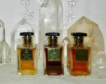 Lanvin, Arpège, My Sin, Prétexte, 3 x 15 ml. or 0.5 oz. Flacons, Pure Parfum Extrait, 1936, Paris, France ..