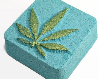 Mary Jane Bath Bomb - Cannabis Flower Bath Bomb - Homemade Bath Bomb - Marijuana Scent Bath Bomb - Bath Bombs for Men - Kush Bath Bomb -