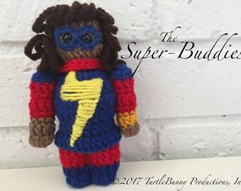 Ms. Marvel (Kamala Khan) Superhero Inspired Nerd Crochet