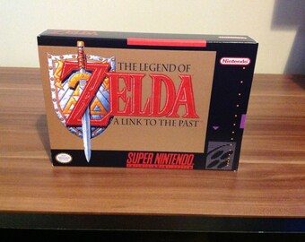 SNES The Legend of Zelda -  Link to the Past -  Replacement Box and Insert No Game Included