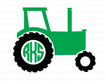 Tractor SVG, Tractor Monogram SVG, SVG Files, Cricut Cut Files, Silhouette Cut Files