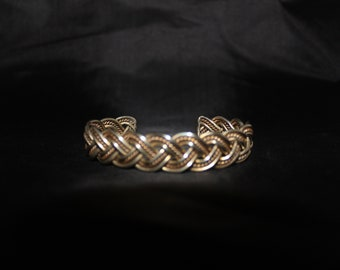 Woven Style, Vintage Sterling Silver bracelet