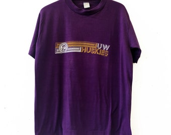 Vintage 80s University of Washington Huskies Tee