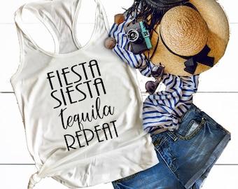 Cinco De Mayo Shirt, Bachelorette Party Shirts, Fiesta Siesta Tequila Repeat, Tequila Shirt, Fiesta Bachelorette Shirts, Margarita Shirt