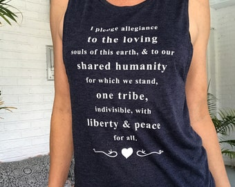 I Pledge Allegiance, To The Loving... - Navy Muscle Tee