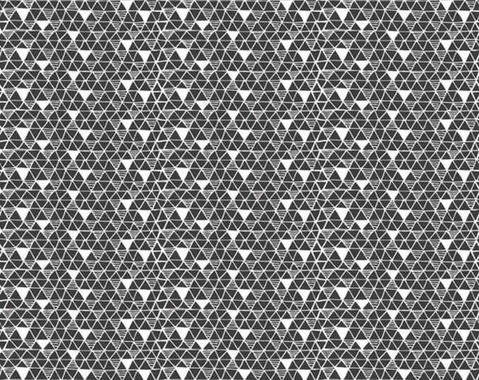 PANDA-RAMA - Rice Paper in Black - Triangle Geometric Cotton Quilt Fabric - by Maude Asbury for Blend Fabrics - 101.129.03.2 (W4285)