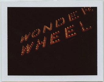 Original Wonder Wheel Sign Polaroid