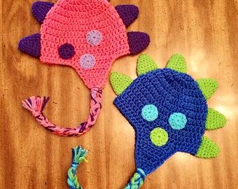 Newborn Twins Dino Hat, Boy Dino Hat, Girl Dino Hat, Baby Dino Hat, Photo Prop for Twins, Baby Dino Hats, Twin Hats
