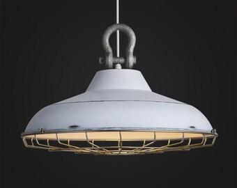 Industrial Factory Cage Lamp - hanging lamp - pendant light - ceiling lighting - edison bulb - industrial vintage lamp  - Edison bulb lamp