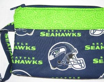 Seattle Seahawks NFL Football Wristlet Custom Made Embroidered