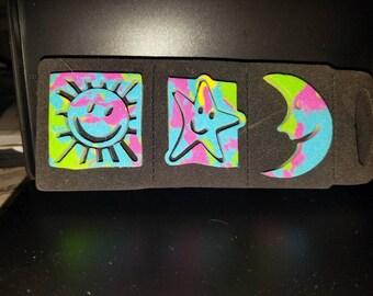 "Funky Chunky ""Moon, Star & Sun"" Foam Stamp, Chunky Foam Stamps"