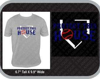 Protect This House Baseball  Vinyl Shirt