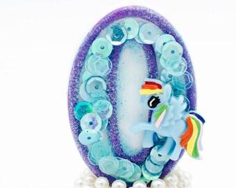 Pony birthday / Pony birthday candle / Pony candle / My little pony birthday / My little pony candles / Rainbow dash birthday / 1st birthday