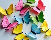 Edible butterflies cake a...