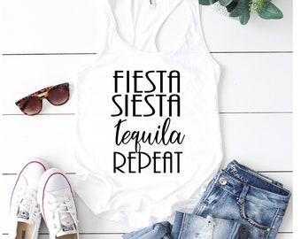 Bachelorette Party Shirts, Cinco De Mayo Shirt, Fiesta Siesta Tequila Repeat, Fiesta Bachelorette, Fiesta Shirts, Mexico Trip Shirts